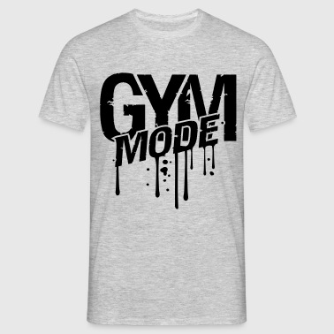 gym drop graffiti blood spray beast fashion cool d T-Shirts - Men's T-Shirt