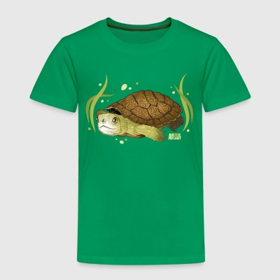 Animal Planet Turtle Underwater Illustration - Premium T-skjorte for barn