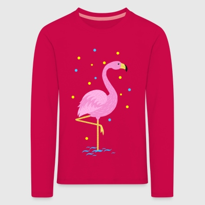 Animal Planet Niedlicher Flamingo Zeichnung - Kinder Premium Langarmshirt