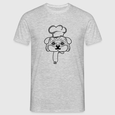 face head sausage sausage food delicious hunger ha T-Shirts - Men's T-Shirt