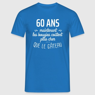 60 ans bougies gâteau Tee shirts - T-shirt Homme