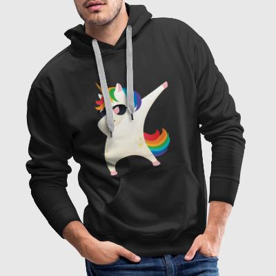 Dabbing Unicorn With Sunglasses - Dab Dance Gift Sweat-shirts - Sweat-shirt à capuche Premium pour hommes