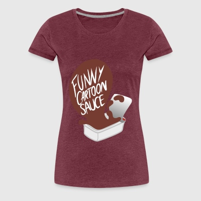 FUNNY CARTOON SAUCE - FEMALE - Women's Premium T-Shirt