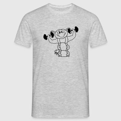 weights dumbbells poses strong bodybuilder muscles T-Shirts - Men's T-Shirt