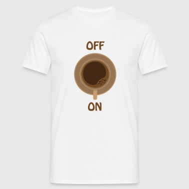 coffe on white cup - Männer T-Shirt