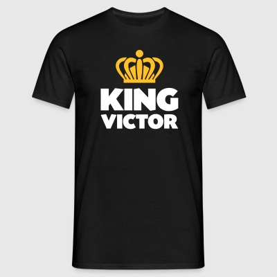 King victor name thing crown - Men's T-Shirt