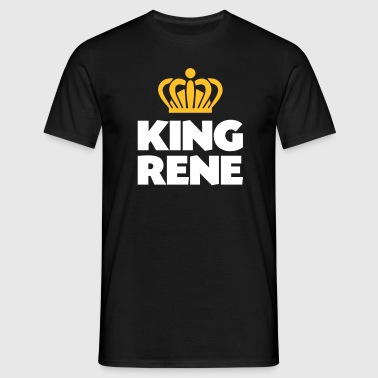 King rene name thing crown - Men's T-Shirt