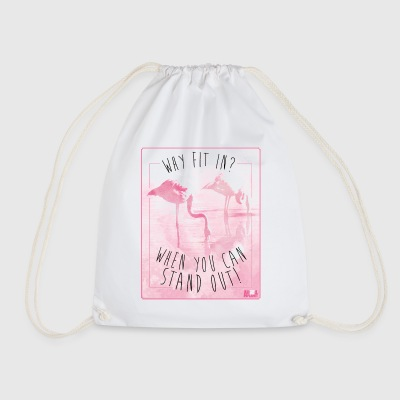 Animal Planet Flamingo Stand Out Funny Quote - Drawstring Bag