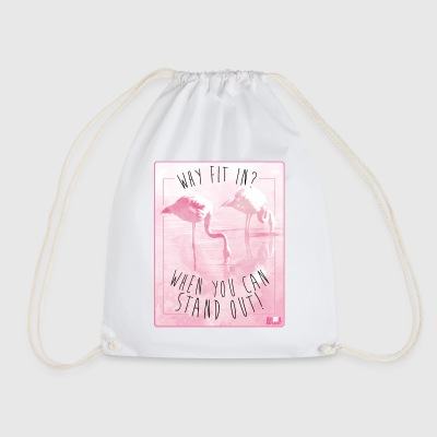 Animal Planet Flamingo Stand Out Funny Quote - Sportstaske