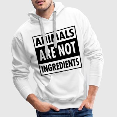 Animals Are Not Ingredients Hoodies & Sweatshirts - Men's Premium Hoodie