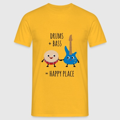 Drums and Bass - Happy Place T-Shirts - Männer T-Shirt