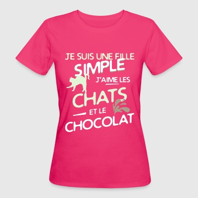Chats - une fille simple Tee shirts - T-shirt Bio Femme