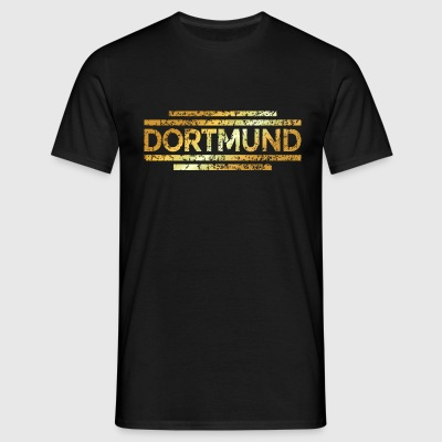 Dortmund Distressed Gold T-Shirts - Männer T-Shirt