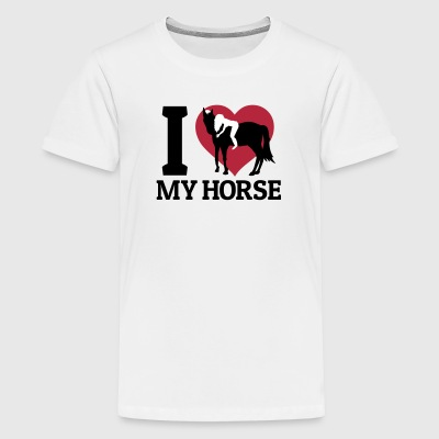 I love my horse Shirts - Teenage Premium T-Shirt