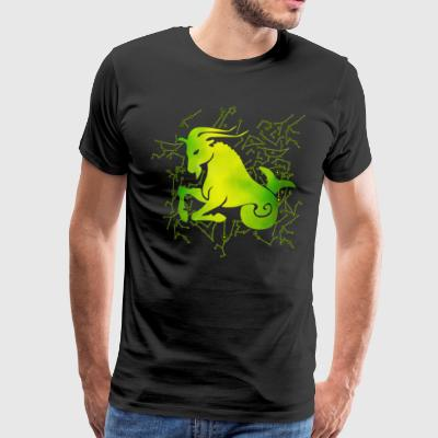 Capricorn Zodiac Sign Ear T-Shirts - Men's Premium T-Shirt