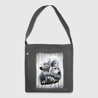White Wolves Schultertasche - Schultertasche aus Recycling-Material
