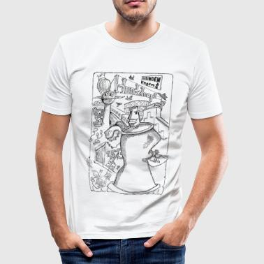 Spraydose Street Illustration T-Shirts - Männer Slim Fit T-Shirt