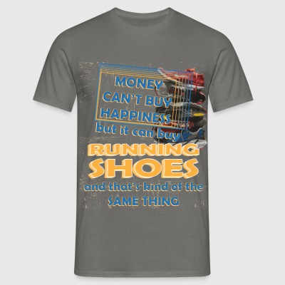 Running Shoes - Money can't buy happiness but it  - Men's T-Shirt