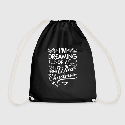 I'm dreaming of a wine Christmas Bags & Backpacks - Drawstring Bag