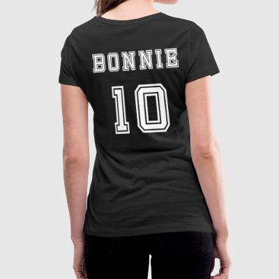 Valentine's Day Matching Couples Bonnie Number - Women's Organic V-Neck T-Shirt by Stanley & Stella
