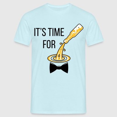 It's Time For Drinking! (Bottle / Beer / Bow Tie) T-Shirts - Men's T-Shirt