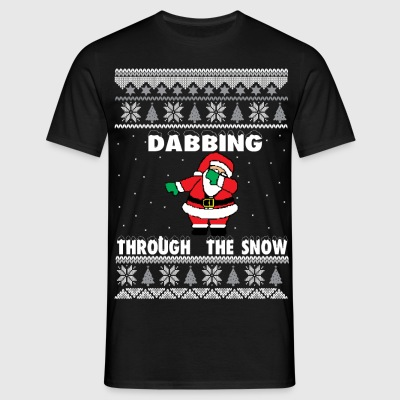 Dab Santa Dabbing Ugly Christmas Sweater T-Shirts - Men's T-Shirt