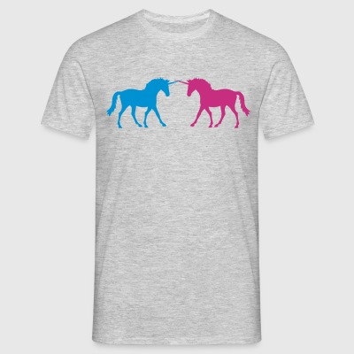 fight duel fight unicorn magical horn cool design  T-Shirts - Men's T-Shirt