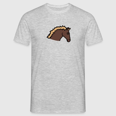 face head run go horse pony ride fast fast small f T-Shirts - Men's T-Shirt