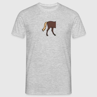 ass back half half head run go horse pony ride fas T-Shirts - Men's T-Shirt