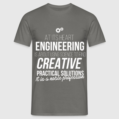 Robotics Engineer - At its heart engineering is  - Men's T-Shirt