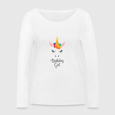 Birthday Girl - Cute Unicorn Manches longues - T-shirt manches longues bio Stanley & Stella Femme