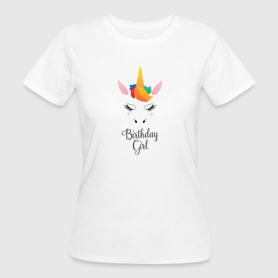Birthday Girl - Cute Unicorn Camisetas - Camiseta ecológica mujer