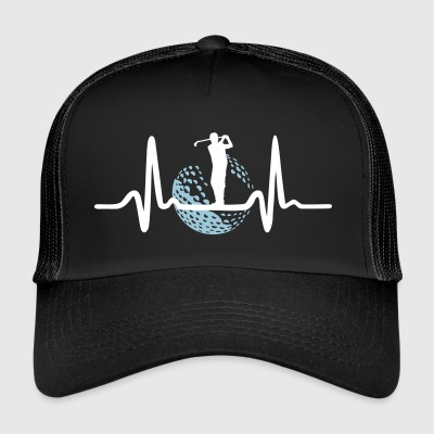 Golf, Golfer and Heartbeat Caps & Hats - Trucker Cap