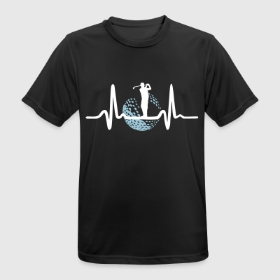 Golf, Golfer and Heartbeat T-Shirts - Men's Breathable T-Shirt