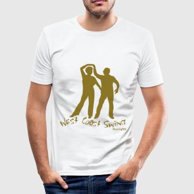 West Coast Swing - Männer Slim Fit T-Shirt