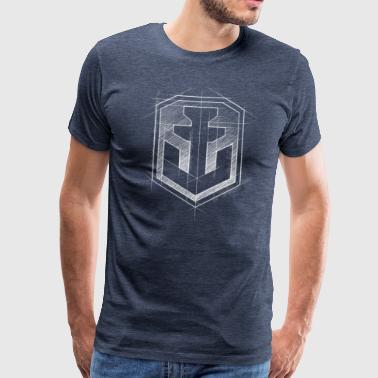 World of Warships Graphical Logo - Men's Premium T-Shirt