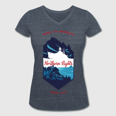 World Of Warships Northern Lights North - Camiseta ecológica mujer con cuello de pico de Stanley & Stella