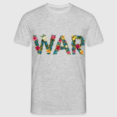 Flower war - Männer T-Shirt