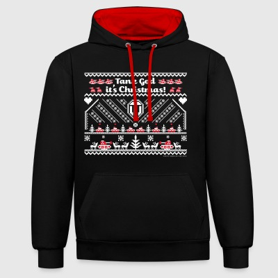 World Of Tanks Tank God It's Christmas - Contrast Colour Hoodie