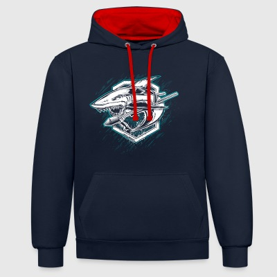 World Of Warships Cruiser Shark - Contrast Colour Hoodie