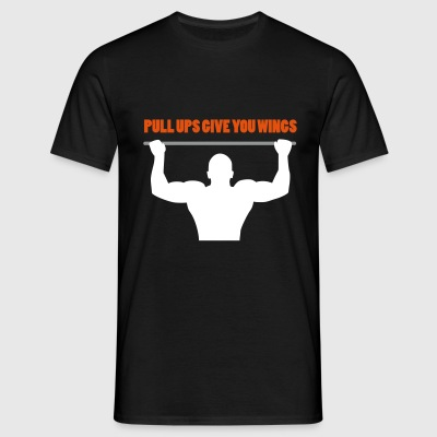 Pullups give you wings T-shirts - Mannen T-shirt