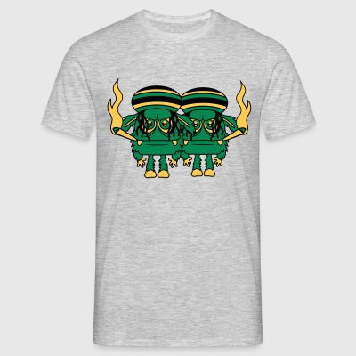 2 friends raggae smoking drugs cigarette jamaica h T-Shirts - Men's T-Shirt