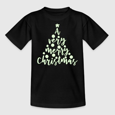 A very merry Christmas glow - Kinder T-Shirt