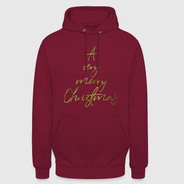 A very merry Christmas green - Unisex Hoodie
