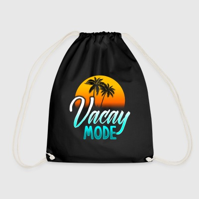 Vacay mode holiday mode holiday gift Beach Bags & Backpacks - Drawstring Bag