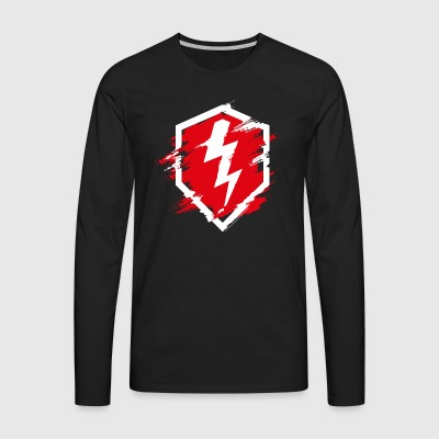 World Of Tanks Blitz Distressed Logo - Men's Premium Longsleeve Shirt