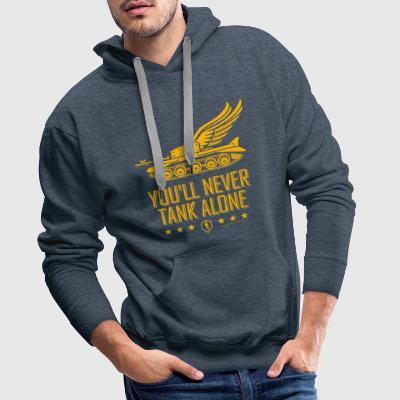 World Of Tanks Blitz You'll Never Tank Alone - Men's Premium Hoodie