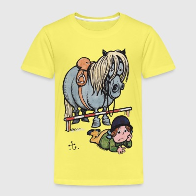 Thelwell Funny Showjumping Gone Wrong - Kids' Premium T-Shirt