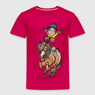 Thelwell Funny Rope Jumping Horse And Rider - Kids' Premium T-Shirt