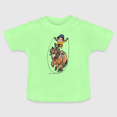 Thelwell Funny Rope Jumping Horse And Rider - Baby-T-skjorte
